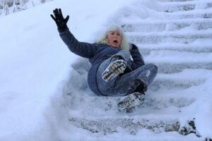 Winter Stairway Slip